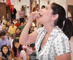 Teacher Eating Cricket